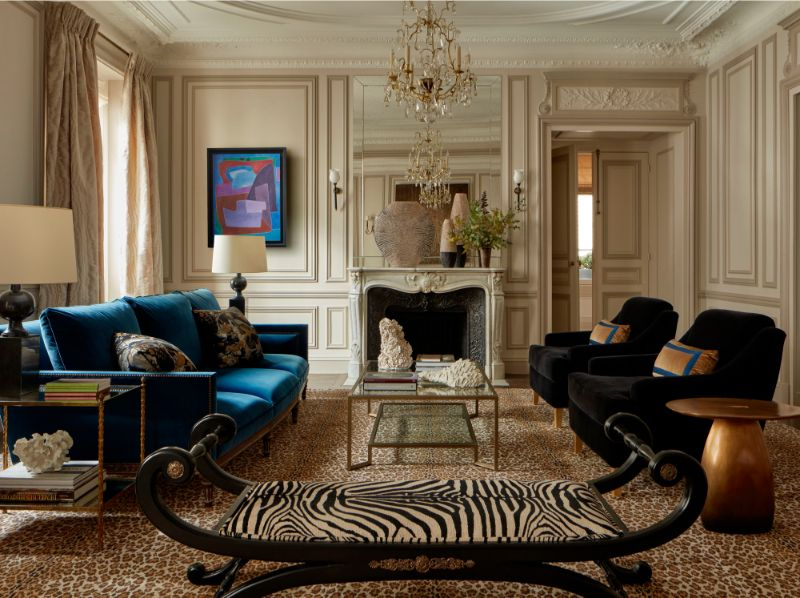 living room Elegant Entryway and Living Room Designs by Champeau & Wilde 2 01Quai Voltaire15100 1
