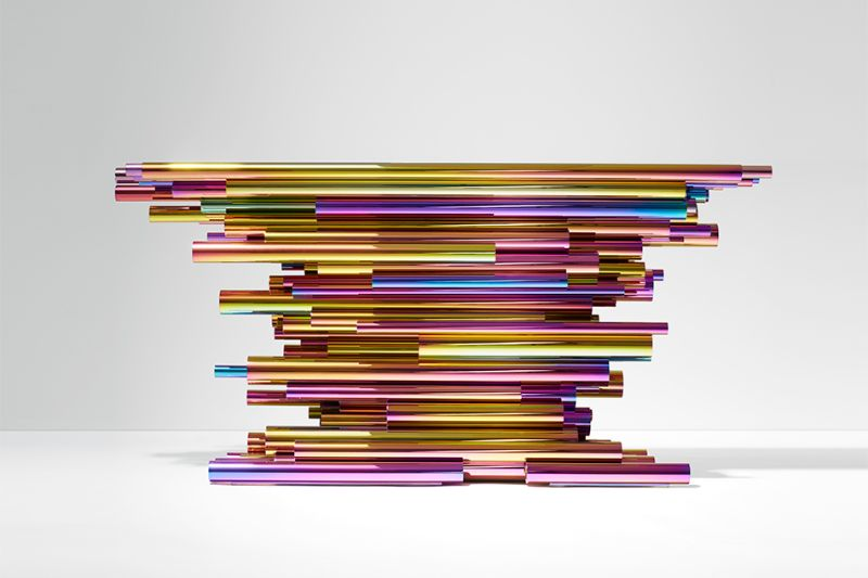 console table Unique Console Table Designs by Herve van der Straeten CONSOLE PIPE SHOW MULTICOLOR 2