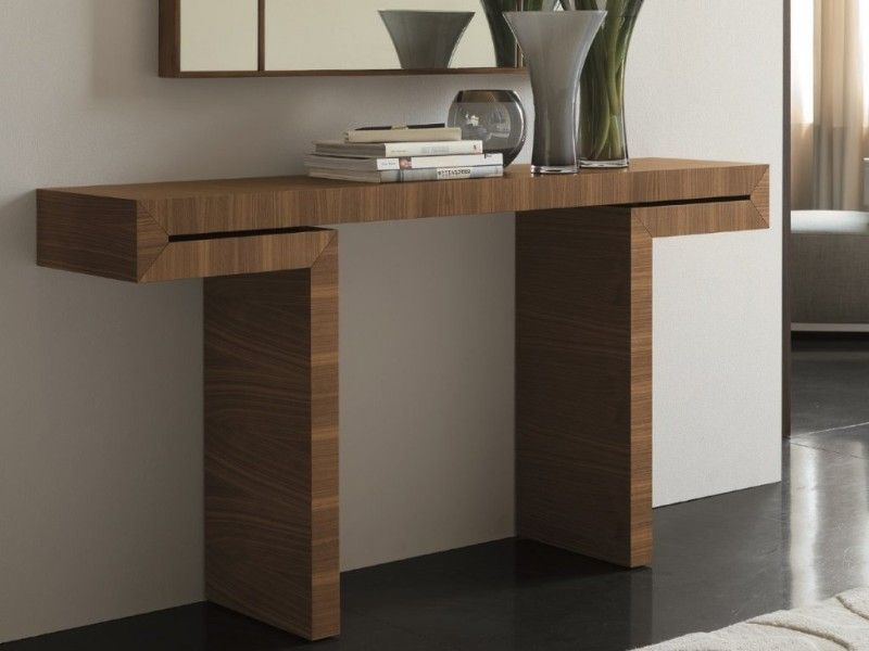 console table Wooden Console Table Designs to Breathe in Nature into the Living Room T shape