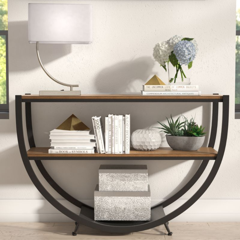 console table Wooden Console Table Designs to Breathe in Nature into the Living Room goodlow console table