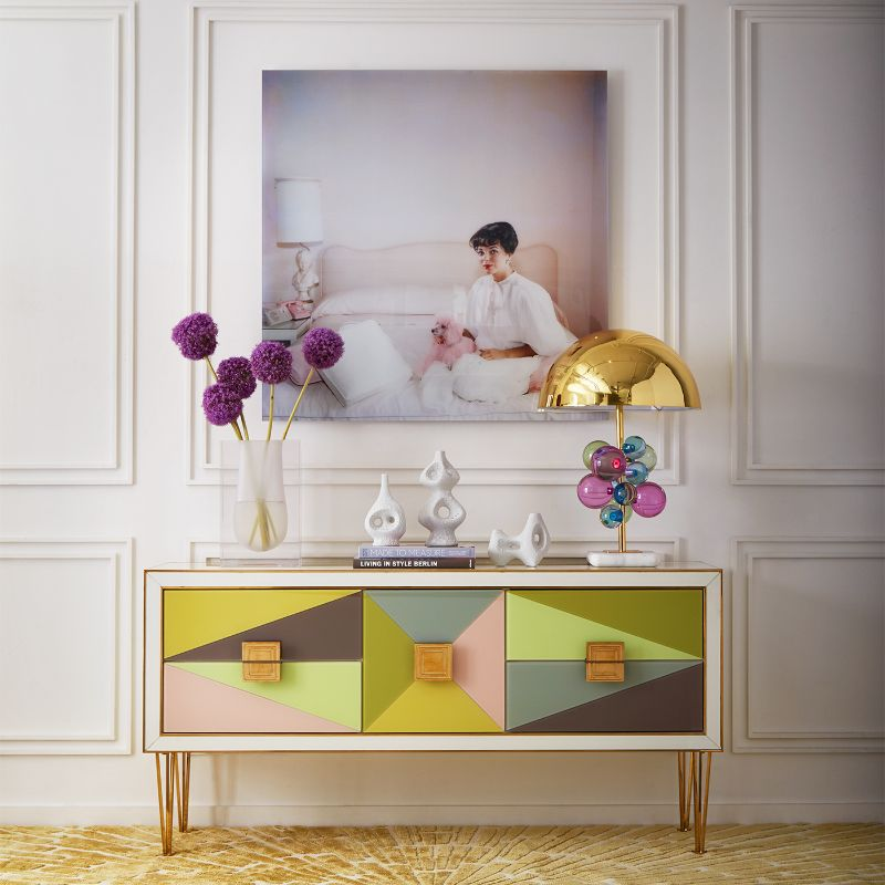 console table Colorful Console Table Designs to Spice Up Your Interior jonathan adler
