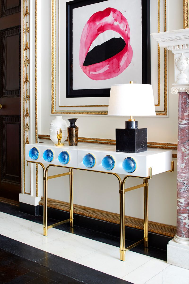 console table Colorful Console Table Designs to Spice Up Your Interior jonathan adler2