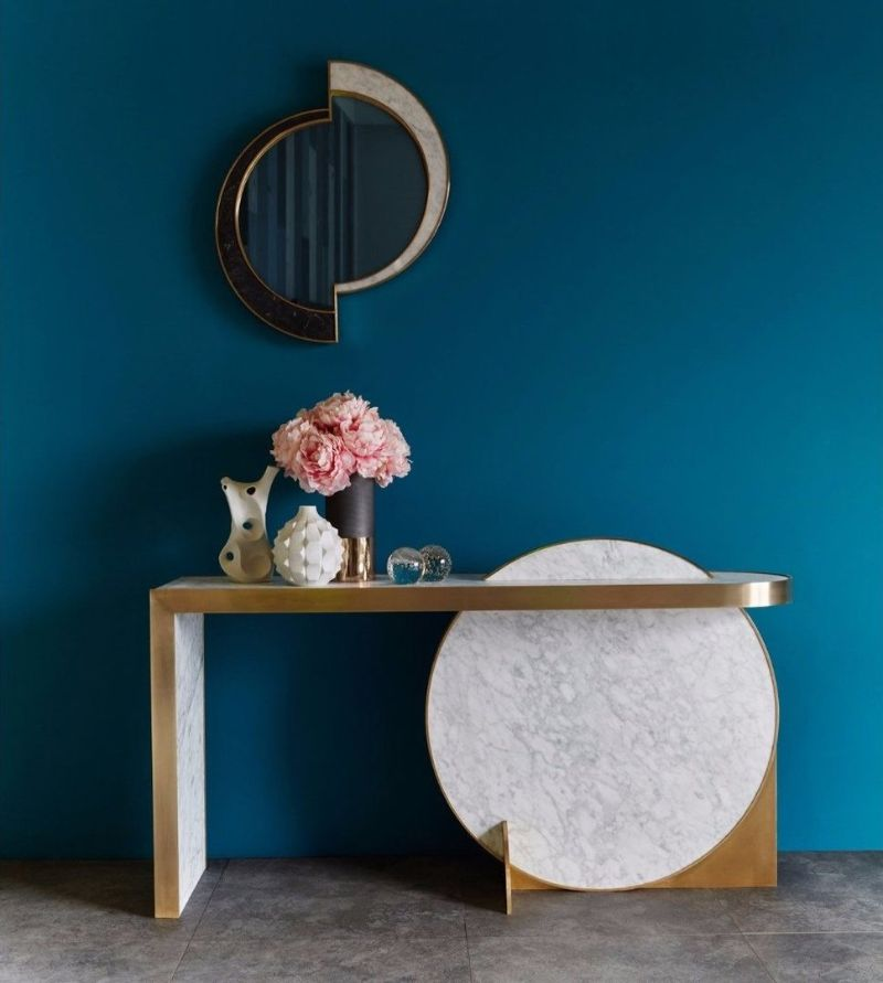 modern mirror Modern Mirror Designs that Will Go Well with Your Console Table lara bohinc