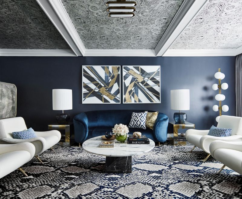 living room interior Exquisite Entryway and Living Room Interior Designs by Greg Natale NEW YORK PIED    TERRE