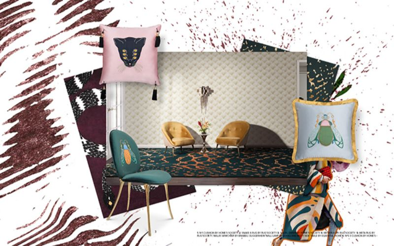 living room Get Inspired by Summer Trends for Your Living Room Design fauna moodboard