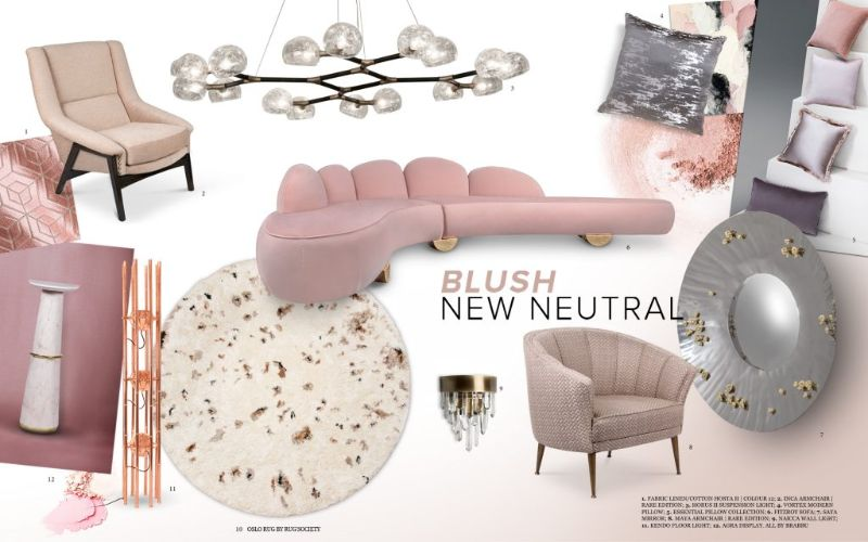 living room Get Inspired by Summer Trends for Your Living Room Design pink moodboard