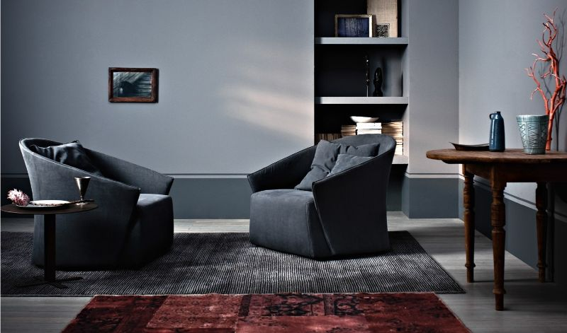 modern armchair Modern Armchair Designs that Will Look Great with Your Elegant Console saba italia3