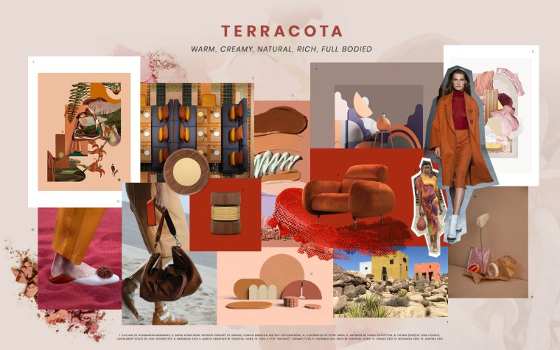 living room Get Inspired by Summer Trends for Your Living Room Design terracota moodboard