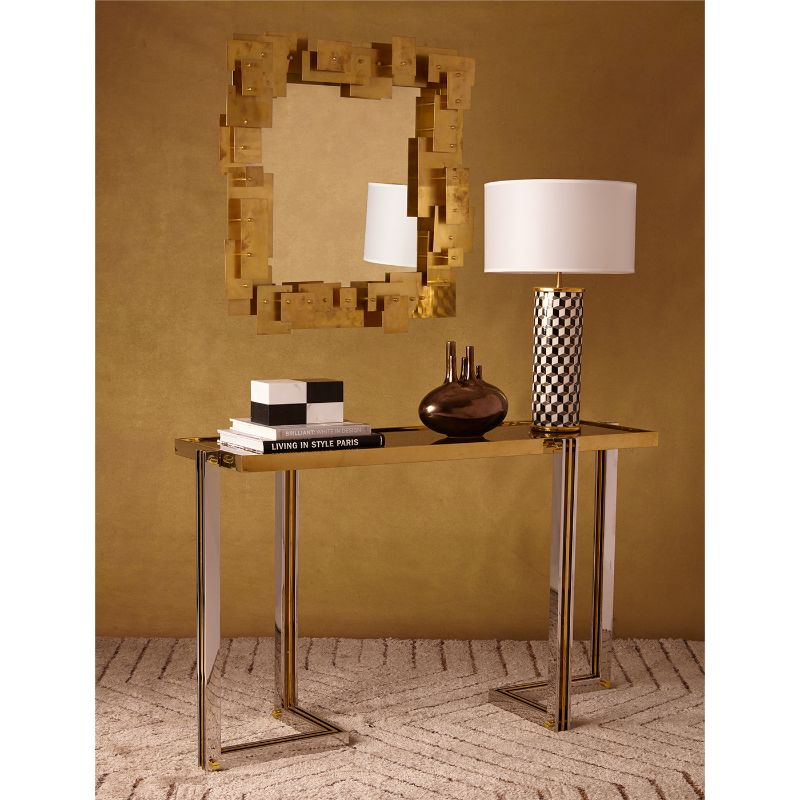 Look At These Striking Gold And White Console Table Designs (2) console table design Look At These Striking Gold And White Console Table Designs Look At These Striking Gold And White Console Table Designs 2