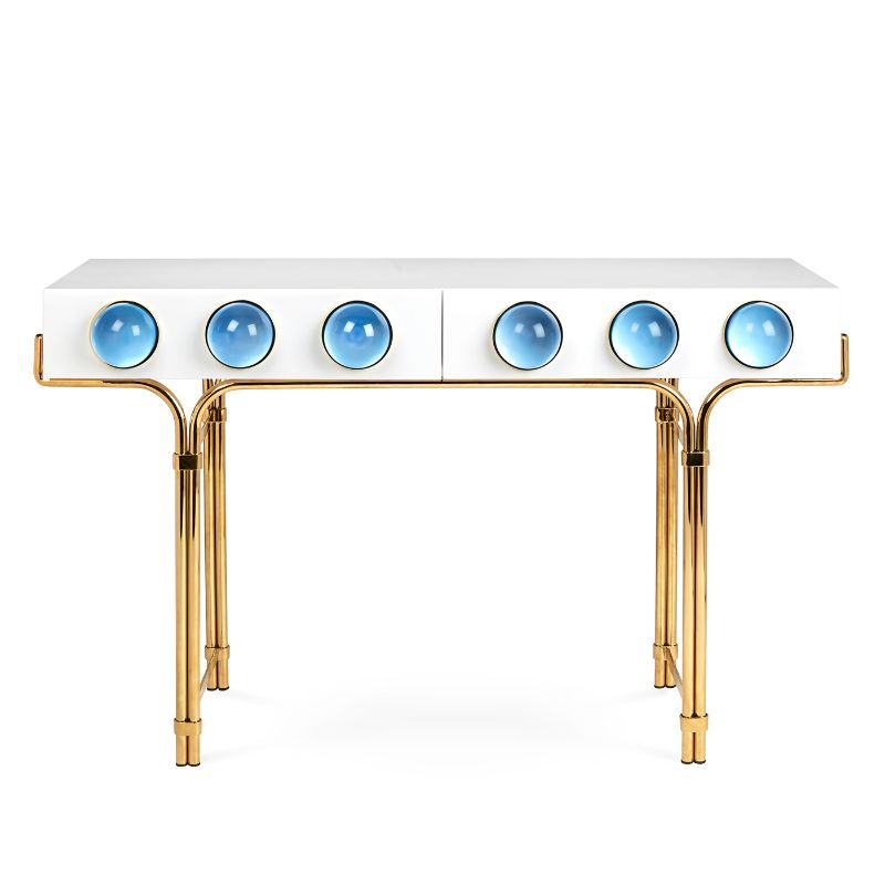 Look At These Striking Gold And White Console Table Designs (3) console table design Look At These Striking Gold And White Console Table Designs Look At These Striking Gold And White Console Table Designs 3