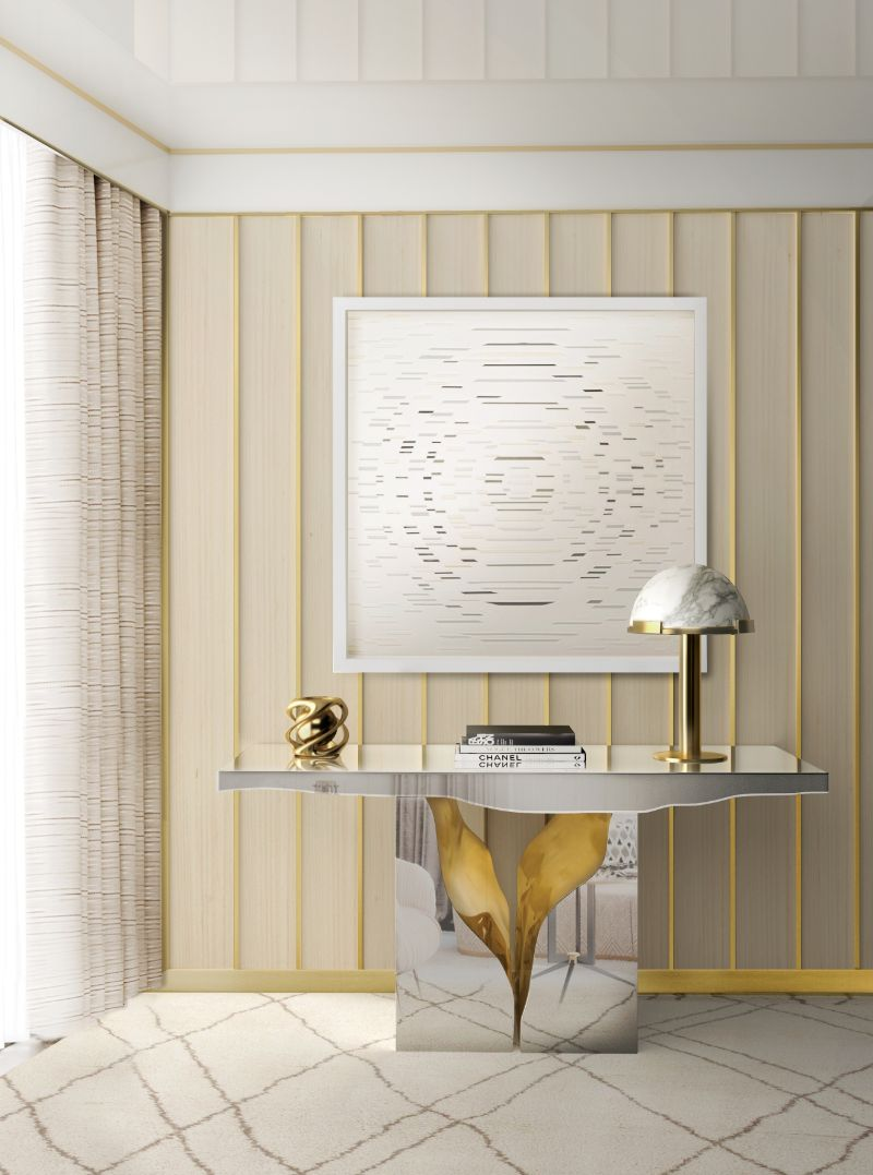 Look At These Striking Gold And White Console Table Designs (4) console table design Look At These Striking Gold And White Console Table Designs Look At These Striking Gold And White Console Table Designs 4