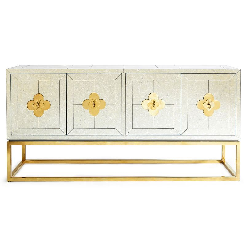 Look At These Striking Gold And White Console Table Designs (7) console table design Look At These Striking Gold And White Console Table Designs Look At These Striking Gold And White Console Table Designs 7