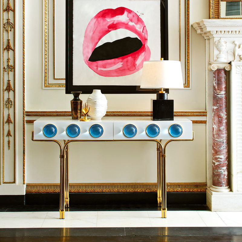 Look At These Striking Gold And White Console Table Designs (8) console table design Look At These Striking Gold And White Console Table Designs Look At These Striking Gold And White Console Table Designs 8