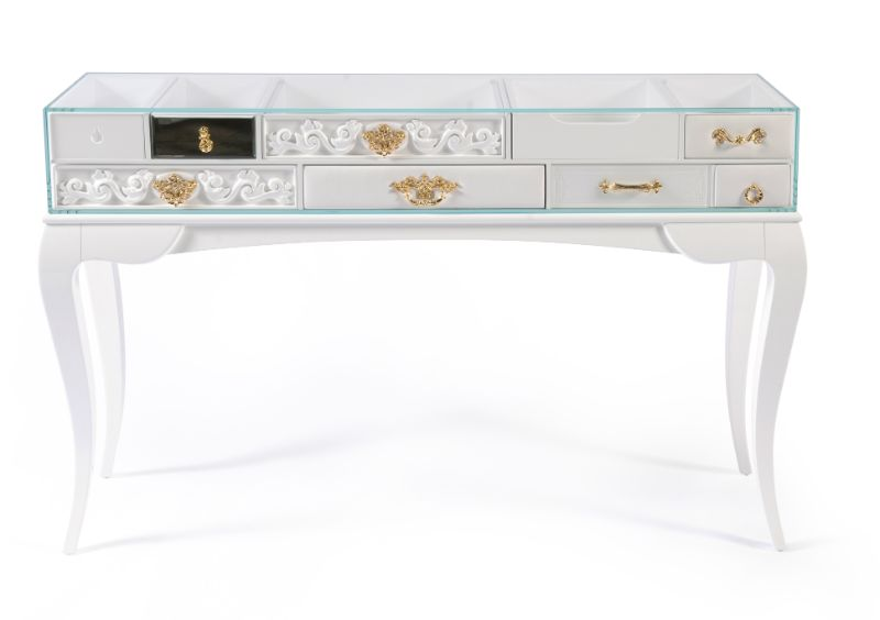 Look At These Striking Gold And White Console Table Designs (9) console table design Look At These Striking Gold And White Console Table Designs Look At These Striking Gold And White Console Table Designs 9